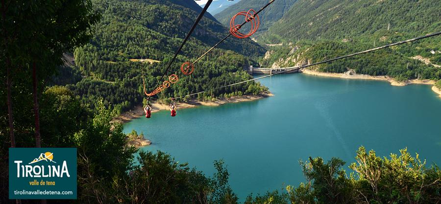 Aventura en la Tirolina doble más larga de Europa